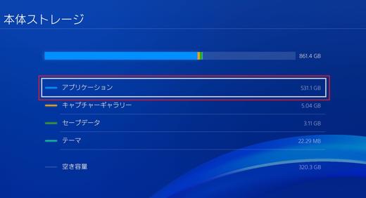 PS4でゲームの移動方法についての画像