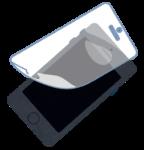 スマホの保護フィルムを貼り替えるイメージ画像